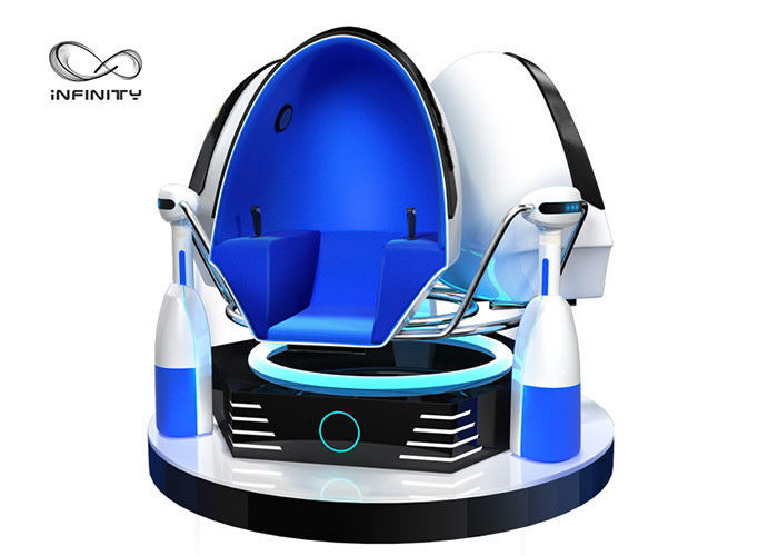 Mini 9D Egg VR Cinema Immersive Experience Platform With Ergonomic Leather Chair