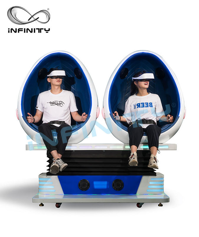 INFINITY Amusement Equipment 9D VR Cinema / Virtual Reality Simulator Games For Theme Park
