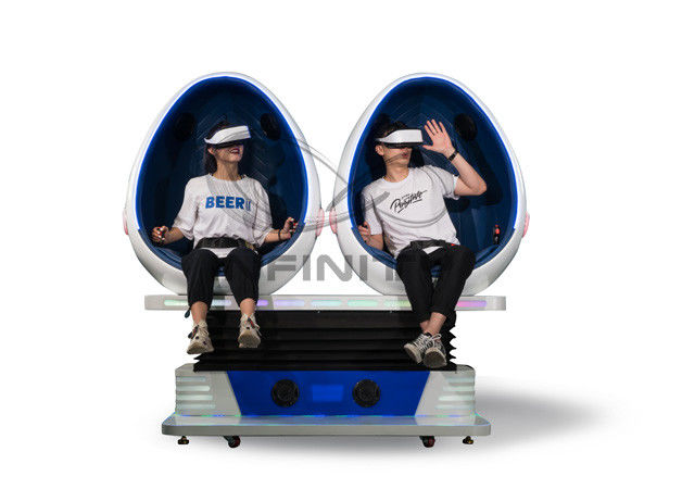 Infinity 720 Rotation 9D Egg VR Cinema / VR Roller Coaster Games Movies 2 Seats Virtual Reality Equipment